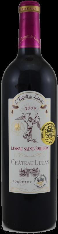 ESPRIT de LUCAS cuvée haut de gamme de Château LUCAS